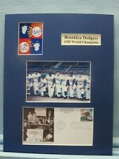 Dodgers Win the 1955 World Series & First Day Cover honoring the Subway Series