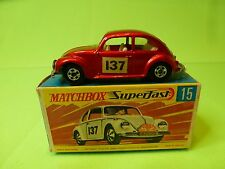 MATCHBOX 15  SUPERFAST VW VOLKSWAGEN BEETLE - RALLY MONTE CARLO No 137 - NMIB