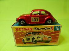 MATCHBOX 15  SUPERFAST VW VOLKSWAGEN BEETLE - RALLY MONTE CARLO No 137 - NMIB