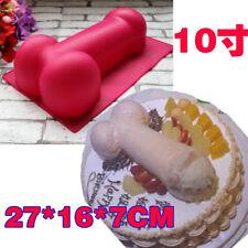 3D Penis Silicone Cake Mould Dick Mold 3D Fondant Cake Decoration Baking Pan