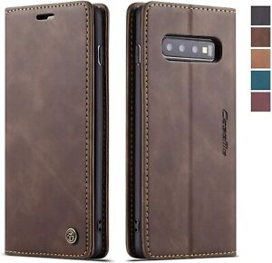 For Samsung Galaxy S21 Ultra A52 A72 Leather Card Pocket Flip Wallet Case Cover