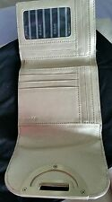 BNWOT Mimco Trifold cream Leather wallet purse clutch $169.00 + dust bag
