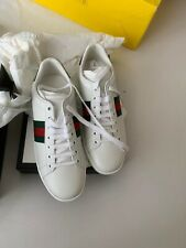 GUCCI Ace White Leather Sneakers Box Dust Bags UK4.5-5 EU37.5 GENUINE NEW