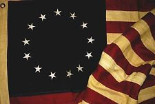 """New listing Aged 13 Star Betsy Ross - American Flag - 58"""" x 32"""" - 100% Cotton"""