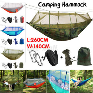 Double Portable Outdoor Travel Camping Hammock Tent Hanging Bed Mosquito   !!