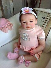 "Reborn LOTTA The Loveliest Baby Girl By Sheila Michael Lifelike Collectible  21"""