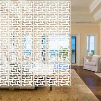 12Pcs Hanging Screen Divider Wood-plastic Panel Partition Living Room Home Decor