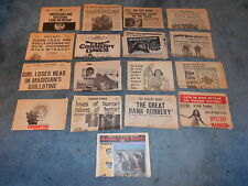 LOT OF 30 DIFFERENT ORIGINAL NEWSPAPER STYLE HERALDS NICE!