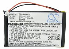 1150mAh New Battery for Garmin Nuvi 600, 610,610T, 650,660 (P/N 361-00019-02)