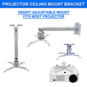 Adjustable LCD LED DLP Projector Bracket Ceiling Wall tilt Mount extension bar