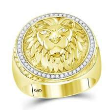 10 kt Yellow Gold  1/3CT-DIA MEN RING