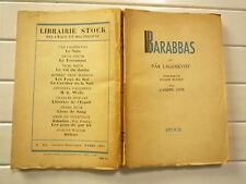 1952 BARABBAS DE PÄR LAGERKVIST CHEZ STOCK BROCHE AV PROPO L MAURY LETTRE A GIDE