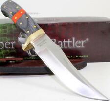 Timber Rattler Full Tang Upswept Hunting Skinner Skinning Knife + Sheath