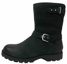 UGG® AUSTRALIA GRANDLE BLACK LEATHER BIKER BOOTS UK 4.5 EUR 37 USA 6 RRP £250