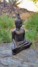 """""""Subduing Mara"""" Seated Thai Buddha Statue in Half-Lotus """"Hero"""" Posture (Type 2)"""