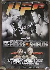 Official UFC 129 - St.Pierre vs Shields Poster 27x39 (Near Mint)