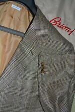 $4725 MINT Brioni Silk Wool Gold Prince of Wales Sportcoat Blazer 46L 46 L ITALY