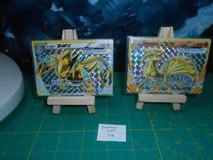 S Lot 14 - Pokemon TCG Lugia Break and Ninetales Break - 2 Holo rare cards
