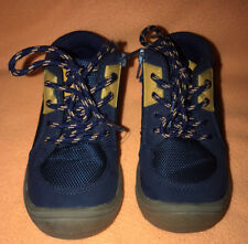 Cat & Jack Shoes Boot Boys Toddler Size 8C Blue/Yellow