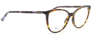 Christian Dior eyeglasses WOMENS Montaigne 25 yellow havana violet NEW 53-16-140