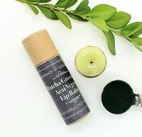 Matcha Green Tea Vegan Lip Balm Paper Tube Organic Shea Butter Antioxidant Care