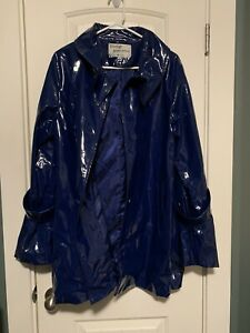 George Simonton PVC coat- Shiny- Blue- Size large