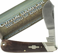 Rough Rider Brown Cotton Sampler Folding Pocket Knife RR1422 Wide Belly Blade