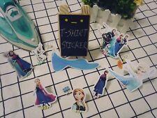 10 pcs Frozen Anna Elsa Olaf T-shirt Heat transfer sticker Iron On decal