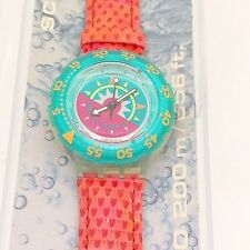 SWATCH SCUBA TIPPING COMPASS SDK111 1993 NIB papers divers collectors watch