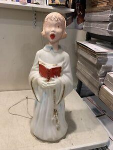 RARE Vintage Empire Angel Choir Caroler Christmas Blow Mold 30 Inch Damaged