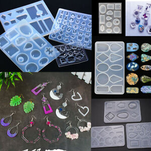 Silicone Earring Pendant Mold Jewelry Resin Mould Kit Casting Craft Making DIY
