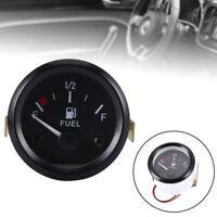 2'' 52mm Fuel Level Meter Gauge & Fuel Sensor E-1/2-F Pointer For Car Motrocycle