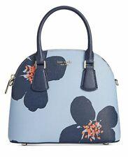 Kate Spade Blue Heron Sylvia Grand Floral Medium Dome Satchel Purse PXRUA411