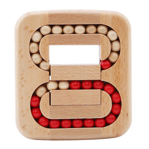 Wooden Ball Maze Puzzle Lock Burr Puzzles Brain Teaser Toys For Kids Adult DP
