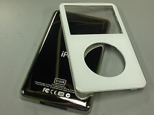 New White Front Faceplate + 512GB Back Cover Housing for iPod 5th 5.5 Gen Video