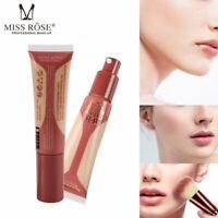 MISS ROSE 40ml Full Cover Brighten Matte Concealer Liquid Foundation BB Cream CA
