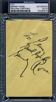 Barney Ross Psa/dna Certed Signed 3x5 Index Autograph Authentic