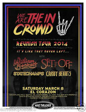 """We Are The In Crowd / Set It Off """"Reunion Tour"""" 2014 Seattle Concert Poster"""