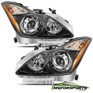 [Polished Black]For 2008-2015 Infiniti G37/Q60 Coupe Factory Style Headlights