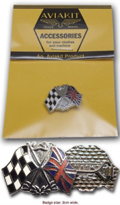 Official Aviakit Racing Flags badge by Lewis Leathers