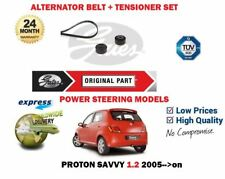 FOR PROTON SAVVY 1.2i G4F 2005-> NEW ALTERNATOR BELT + TENSIONERS PULLEY SET