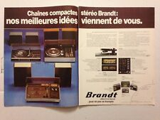 PUBLICITE ANNEES 70 CHAINES COMPACTES STEREO BRANDT