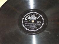 Paul Whiteman, 78 rpm Record You Were Never Lovelier / Travelin' Light Capitol
