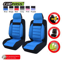 Universal 2 front Car Seat Covers Breathable Black Blue Soft Sofa For Van Truck