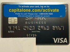 Capital One Visa Spark Business Collectable Expired Credit Card with Sticker