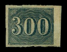 BRAZIL 1850  Numerals  300r black  Sc# 27  mint MH VF OG*