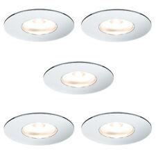 Paulmann 935.51 5er Set LED Möbel Einbauleuchte 5x1W Chrom inkl. Leuchtmittel