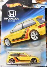2018 Hot Wheels Honda Series Walmart Exclusive 2/8 1990 Honda Civic EF Yellow B2