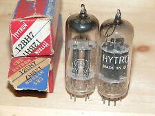 2 NIB CBS/Hytron 12BH7 Tubes (USA Blackplate  D-Getter)-1951 and 1953