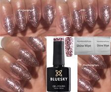 BLUESKY S06N PINK ROSE GLITTER SPARKLE NAIL GEL POLISH UV LED SOAK OFF + WIPES